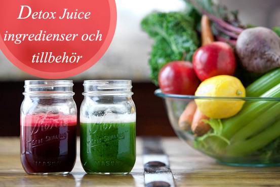 Detox Juice - Ingredienser och tillbehör
